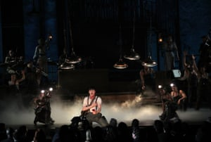 Reeve Carney and the cast of Hadestown perform