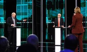 Boris Johnson and Jeremy Corbyn in the ITV debate.