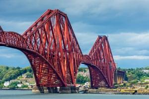 The Forth Rail bridge from South Queensferry, Edinburgh