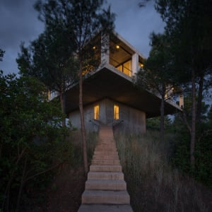 The 'right-angled mushroom' Solo House designed by Mauricio Pezo and Sofia von Ellrichshausen.