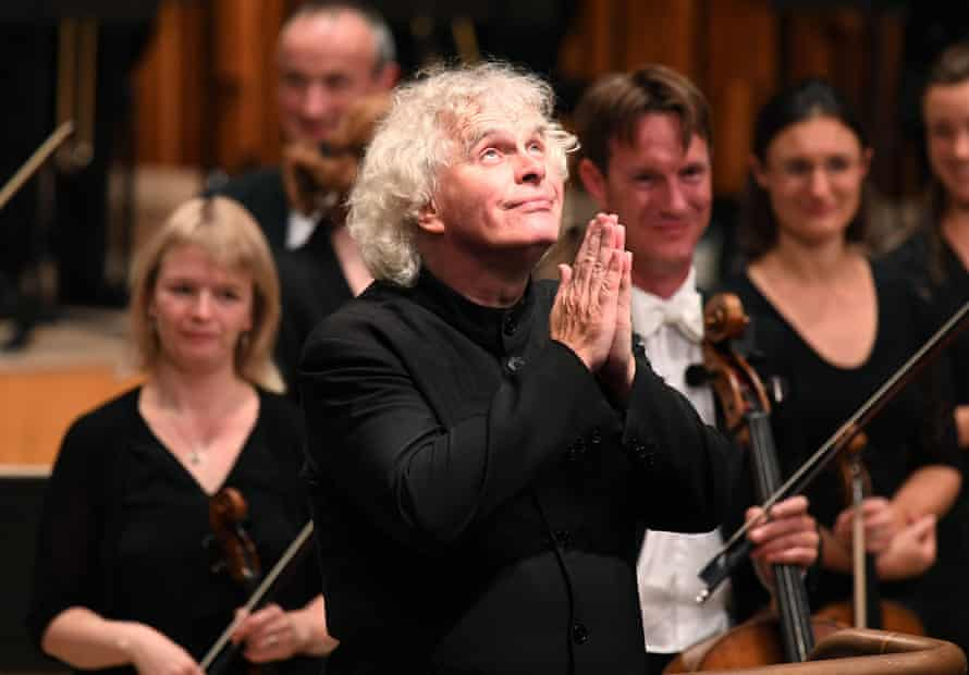 Simon Rattle at the Barbican last week.