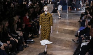 A model presents a creation for Christian Dior