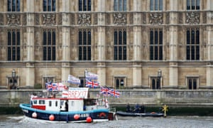 Part of the flotilla of fishing vessels campaigning to leave the EU.