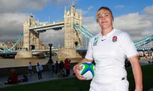 Catherine Spencer, captain of England's women's rugby team in August 2010
