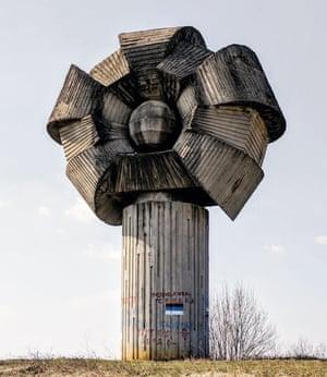 Freedom Hill monument at Gligino Hill in Bosnia-Herzegovina.