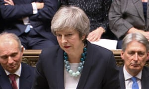 Theresa May makes a Commons statement about the delay of the vote on her Brexit deal on 10 December 2018.