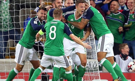 Jonny Evans puts Northern Ireland on way to win and verge of World Cup play-off