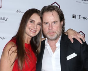 Actor Brooke Shields with husband Chris Henchy in March 2017.