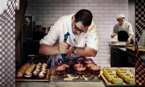 A pastry chef at Pascale restaurant at QT Melbourne