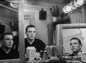 Albert Finney backstage at the St James Theatre on Broadway, before performing in the play Luther on 1 October 1963
