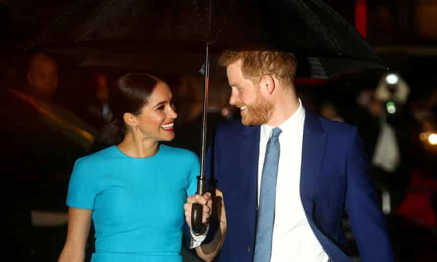 Meghan, Duchess of Sussex, and Prince Harry at the Endeavour Fund awards in March 2020