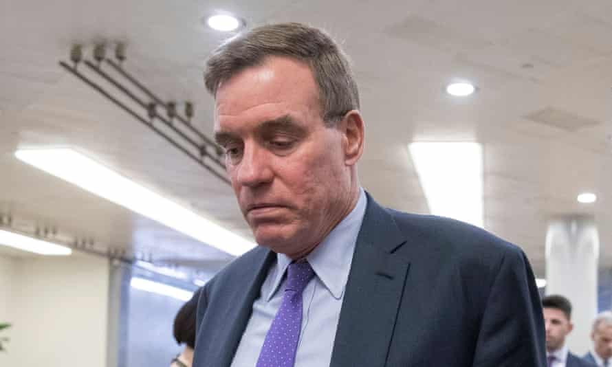 Mark Warner on Capitol Hill. The senator has introduced new regulation that would require companies to disclose who is behind political advertising.
