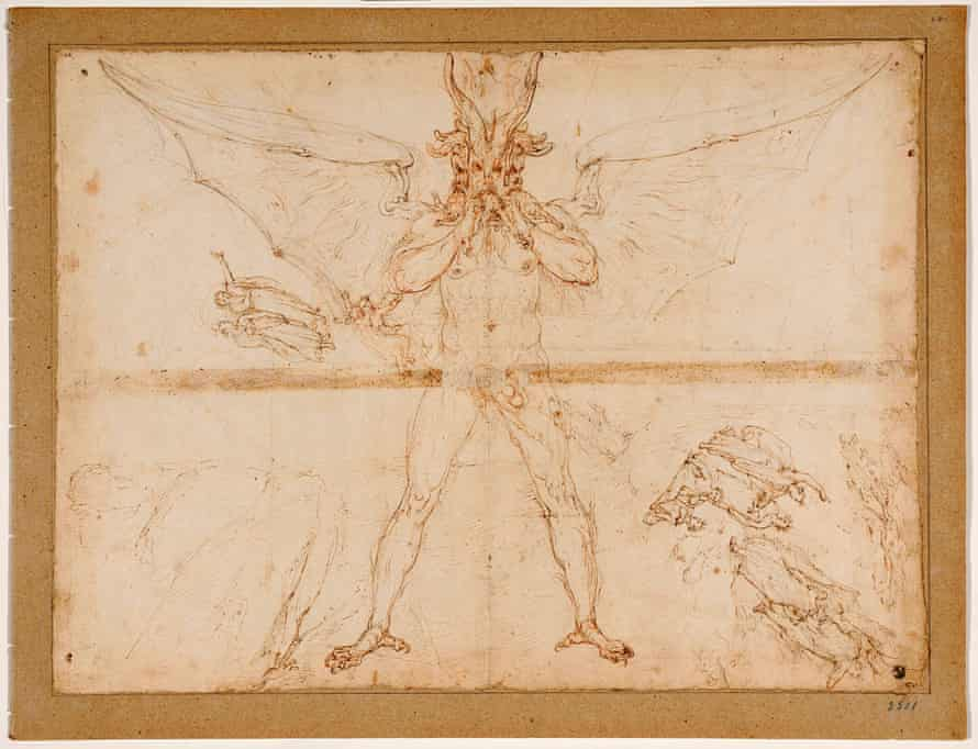 Lucifer in a drawing by Zuccari.