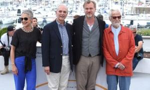 Katharina Kubrick, Keir Dullea, Christopher Nolan and Jan Harlan.
