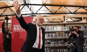 Jeremy Corbyn launches Labour's European election campaign in Chatham, Kent, on 9 May.