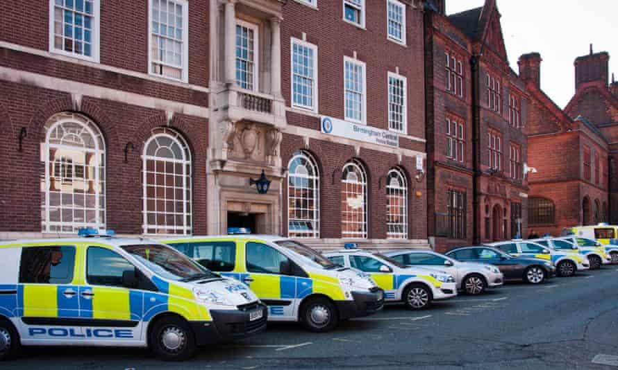 West Midlands police vehicles.
