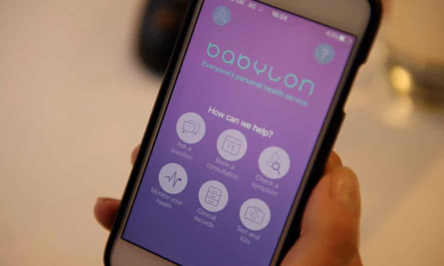 Babylon's app can arrange a video consultation with a GP... for a price.