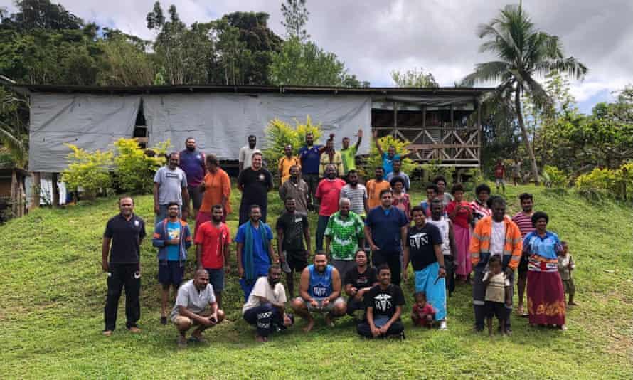 The health team trekked through the Fijian highlands to reach Nakida village