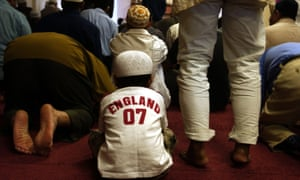 Prayers at a mosque in Woking