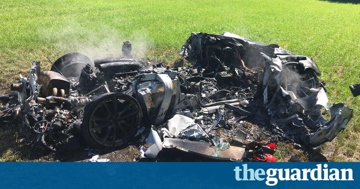 'I've only just got it': £200,000 Ferrari wrecked in M1 crash