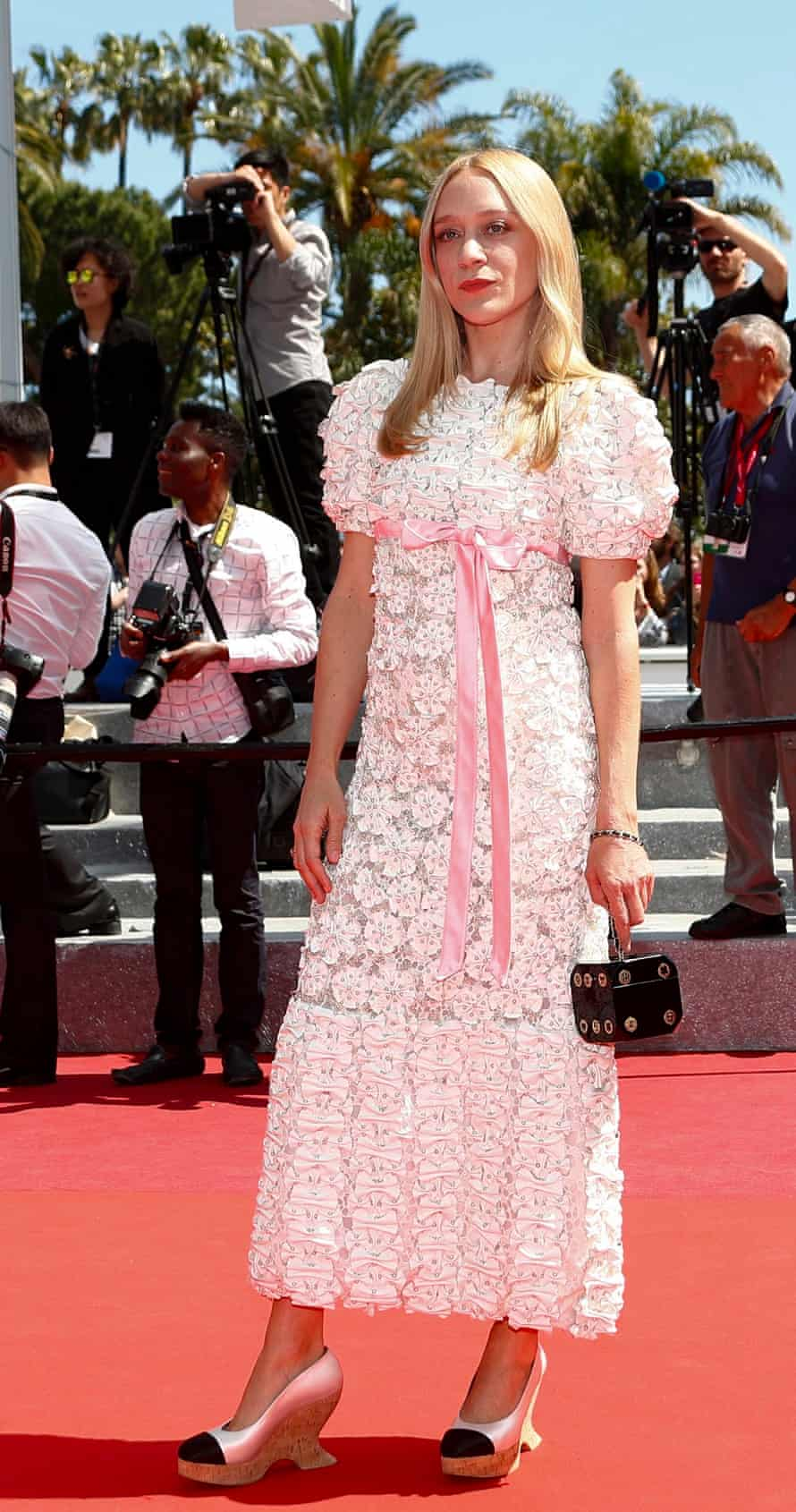 So organised, so confident ... Chloë Sevigny and bag at Cannes.