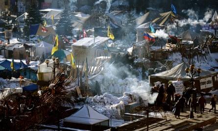 The Maidan in Kiev in January 2014