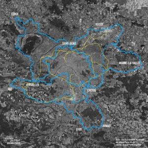 The route around Paris.