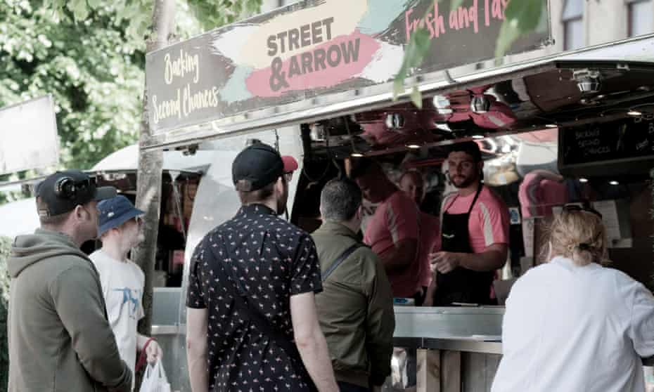 Street & Arrow, a food truck in Glasgow supported by the Scottish Violence Reduction Unit.