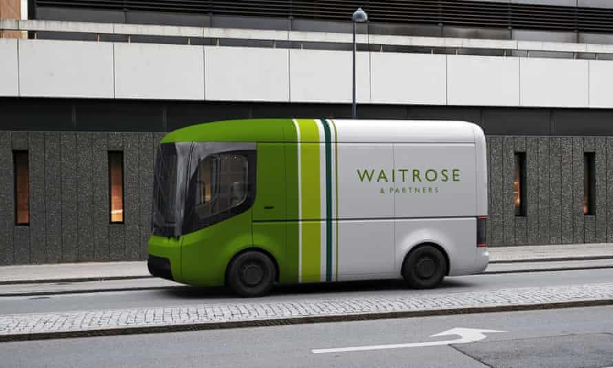 A new Waitrose electric van.