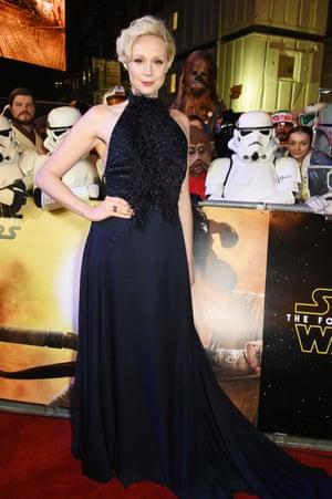 Gwendoline Christie arrives for the European premiere