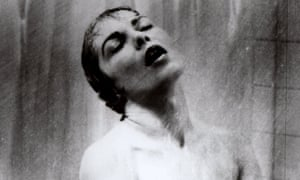 Notorious … Janet Leigh as Marion Crane in the shower scene in Psycho.