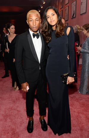 Pharrell Williams with wife Helen Lasichanh at the Governors Ball