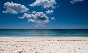 Caribbean beach, Cabo San Antonio, Cuba.