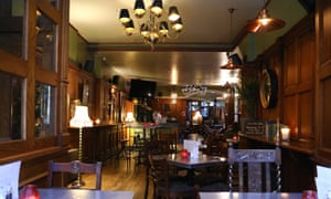 An empty pub in Whitehall