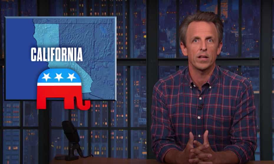 Seth Meyers on the California recall process: 'I mean, who came up with this system? It's more difficult than following the latest developments in the Marvel Cinematic Universe.'