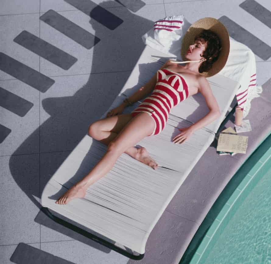 The actress Mara Lane at the Sands hotel, Las Vegas, 1954