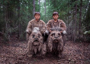 """Alexey Vasilyev (Russia) Sakhawood Twins Semyon and Stepan starred in the fairy tale """"The Old Beyberikeen"""" in the roles of mythical creatures living in the swamps – dulgancha. It is the first experience of participation in cinema for them."""