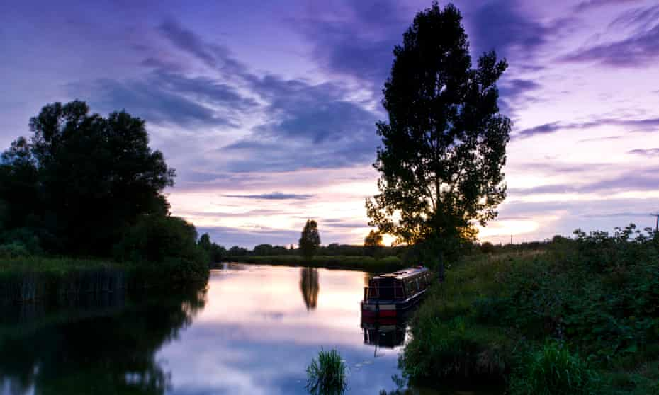 Moored on the Great Ouse at dusk.