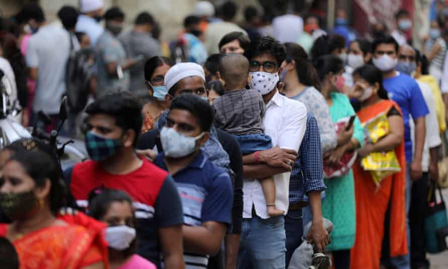 India reports national record 103,558 new Covid cases in 24 hours |  Coronavirus | The Guardian