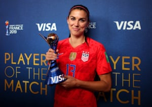 After scoring five of their thirteen goals, it couldn't really have been anyone other than Alex Morgan who was named Player of the Match.