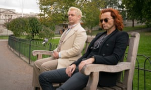 Angels and demons ... Michael Sheen and David Tennant in Good Omens.