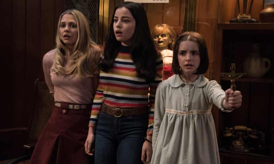 Madison Iseman, Katie Sarife and and Mckenna Grace in Annabelle Comes Home.