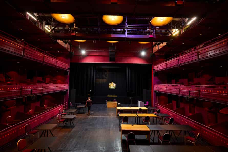 The Quays theatre at the Lowry arts centre in Salford, which is being transformed into a Nightingale court to help clear the backlog of cases.