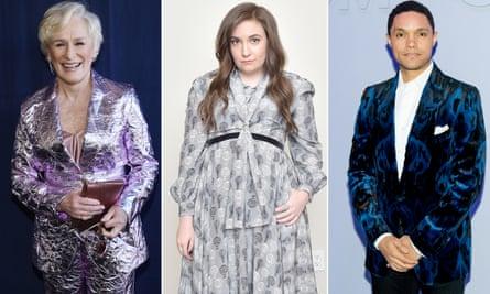 Glenn Close, Lena Dunham and Trevor Noah