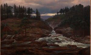 The Lower Falls of the Labrofoss by Johan Christian Dahl