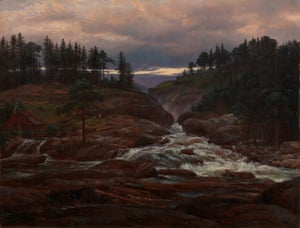 The Lower Falls of the Labrofoss, 1827, by Johan Christian Dahl.