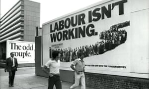 The Conservative party's poster 'Labour Isn't working' in 1978.