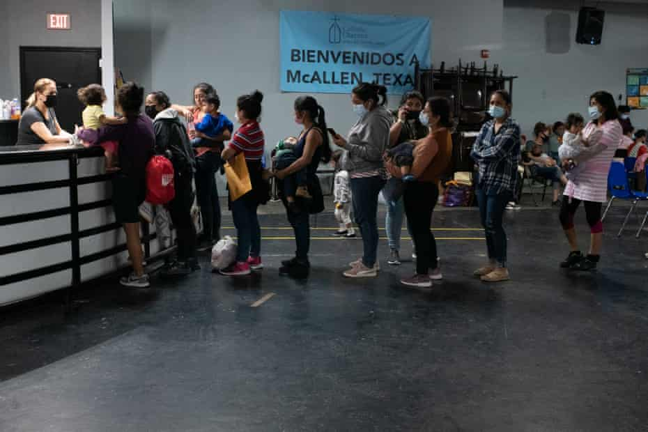 At the Catholic Charities respite center in McAllen, Texas, migrants can shower, rest and eat a meal.