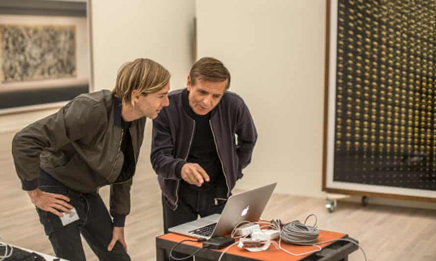 Richie Hawtin and Andreas Gursky, Dusseldorf, 2016.