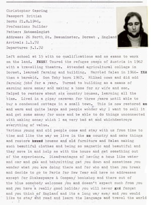 Chris Geering's page of biography
